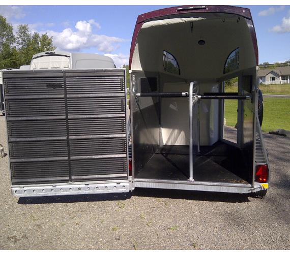 Open wing Door on trailer