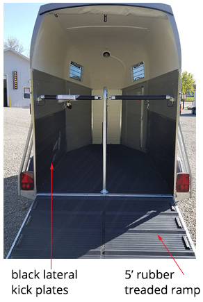 Champion Esprit black lateral kick plates rubber treaded ramp